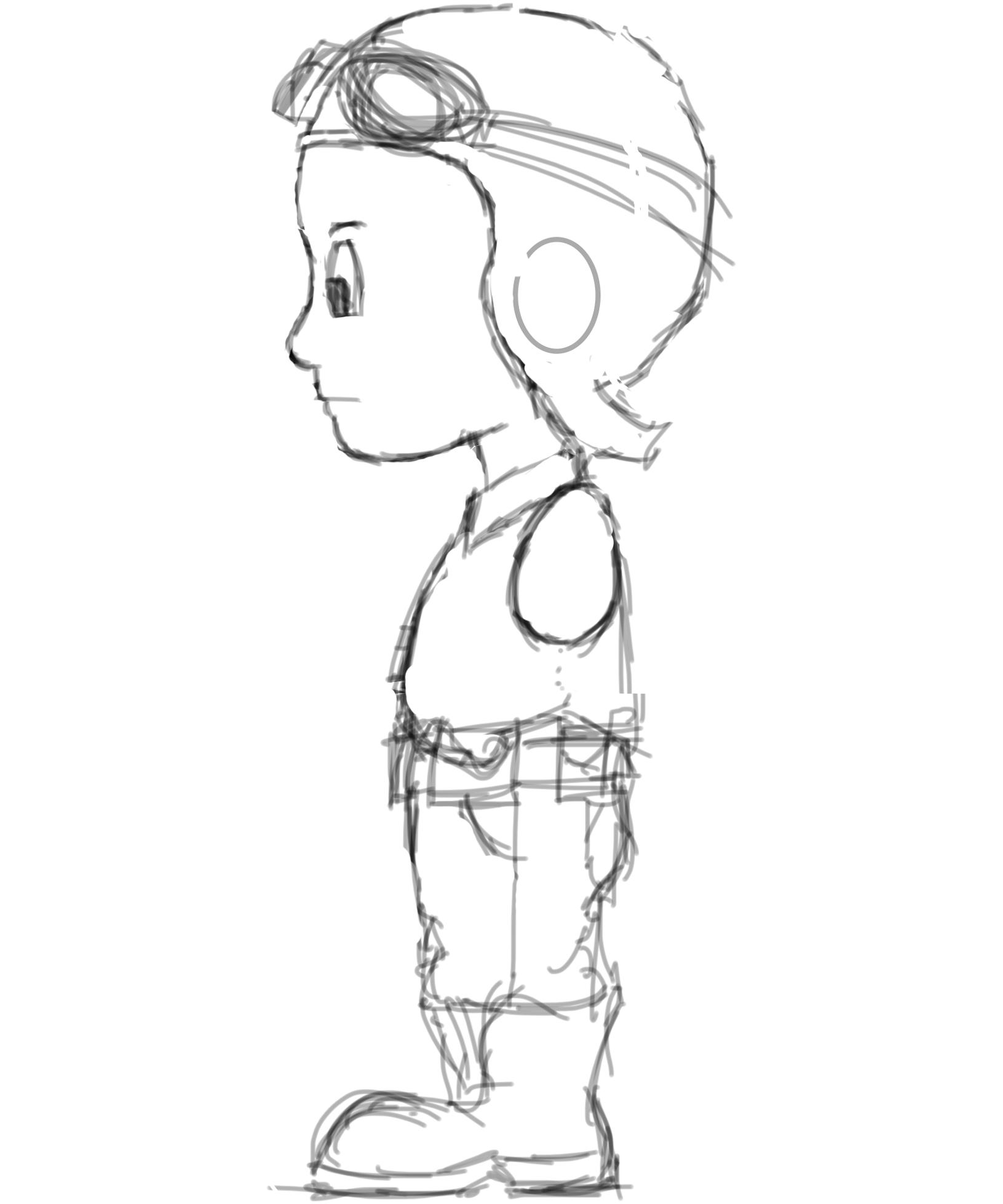 Cartoon Character Modeling In Blender : Steampunk kid side